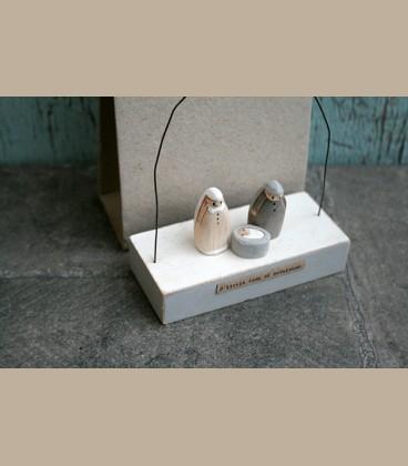 """Ξύλινο διακοσμητικό με μήνυμα  """"Little town of Bethlehem"""""""
