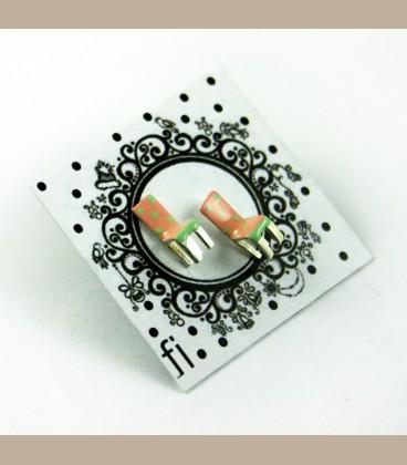 Χειροποίητα σκουλαρίκια σομόν  (FI108)