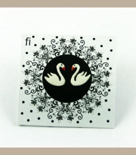 Χειροποίητα σκουλαρίκια λευκοί κύκνοι (FI117)