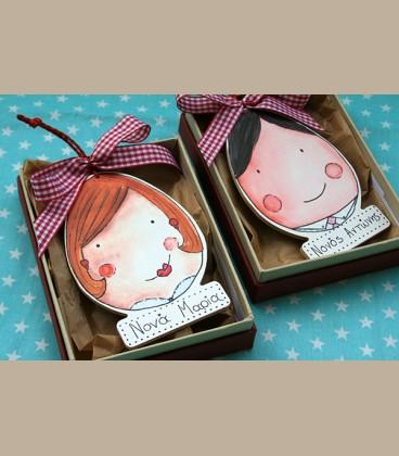 Personalized ξύλινη αυγοφατσούλα νονά/μαμά
