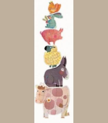 Djeco - Puzzle Geant Η αγελάδα και οι φίλοι της +3y