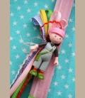 Πασχαλινή λαμπάδα Κορίτσι με καπέλο Elise