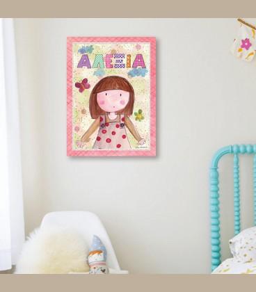 Παιδικός πίνακας κορίτσι PE101