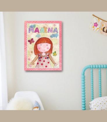 Παιδικός πίνακας κορίτσι PE100