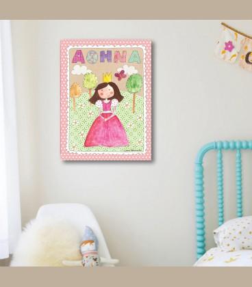 Παιδικός πίνακας Πριγκίπισσα PE550