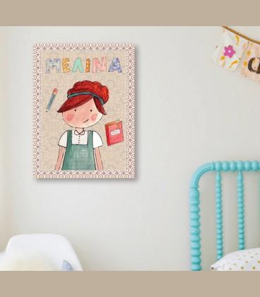 Παιδικός πίνακας κορίτσι PΕ851