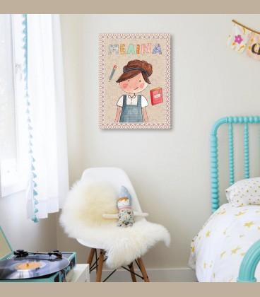 Παιδικός πίνακας κορίτσι PΕ850