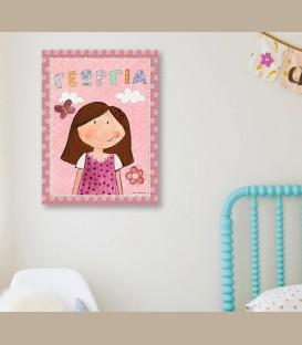 Παιδικός πίνακας κορίτσι PΕ856