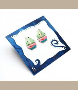 Χειροποίητα σκουλαρίκια καραβάκια (FI192)