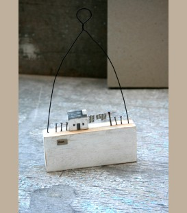 """Ξύλινο διακοσμητικό με μήνυμα  """"Home"""""""