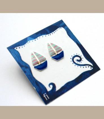Χειροποίητα σκουλαρίκια καραβάκια (FI186)