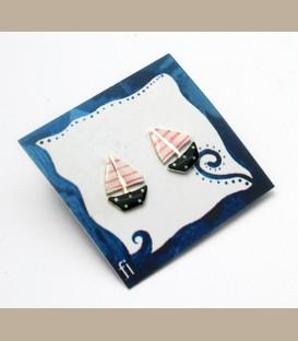 Χειροποίητα σκουλαρίκια καραβάκια (FI195)