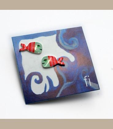 Χειροποίητα σκουλαρίκια ψαράκια (FI194)
