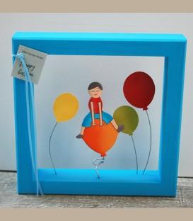 """Χειροποίητο κάδρο  """"Happy Balloon"""""""