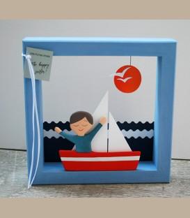 """Χειροποίητο κάδρο  """"The Happy Sailor"""""""
