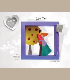 """Χειροποίητο κάδρο  """"Love Tree"""""""