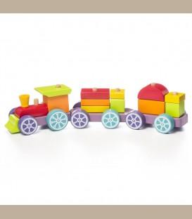 Cubika Ξύλινο Τρένο Ταξινόμησης 42 εκ. +18m