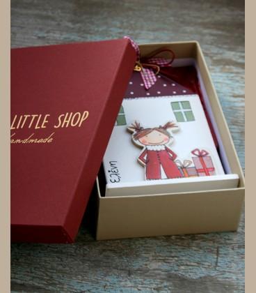 Χειροποίητο επιτραπέζιο γούρι σπιτάκι personalized για κοριτσάκι