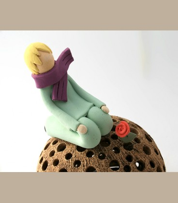 Χειροποίητο κεραμικό φαναράκι - Μικρός Πρίγκηπας