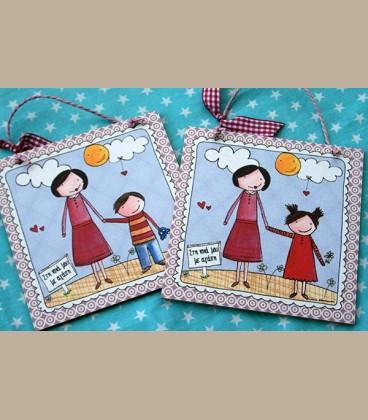 Personalized καδράκι για νονά και κοριτσάκι