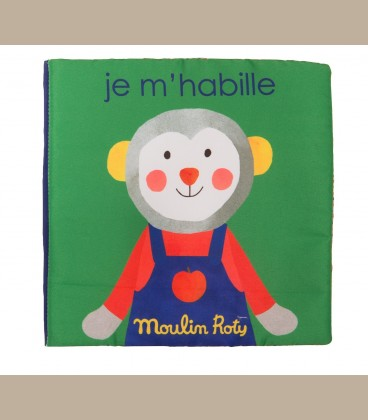 Moulin Roty - Πάνινο βιβλίο Getting dressed +18m