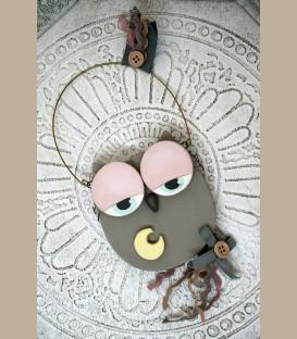 Κεραμική κουκουβάγια στολίδι κρεμαστό