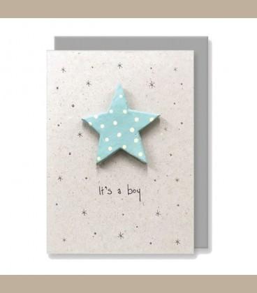 Ευχετήρια κάρτα χειροποίητη It's s Boy