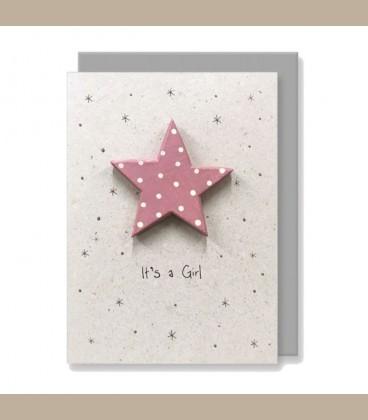 Ευχετήρια κάρτα χειροποίητη It's s Girl