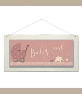 Ξύλινη επιγραφή Baby girl