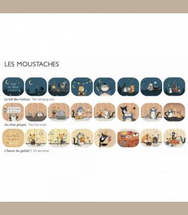 Ανταλλακτικά φακού ιστοριών Les Moustaches +4y