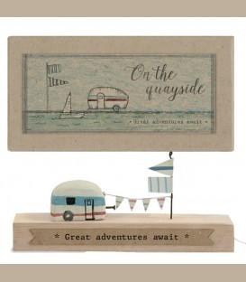 Ξύλινο διακοσμητικό - Caravan / Great adventures await