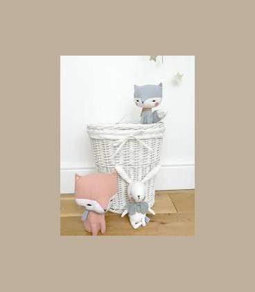 Picca LouLou- Υφασμάτινη Αλεπού ροζ  σε κουτί