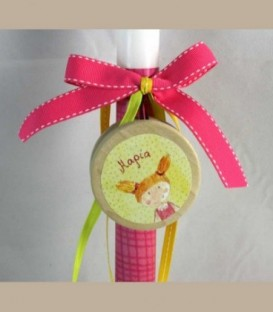 Πασχαλινή personalized λαμπάδα γιο-γιο κοριτσάκι 230