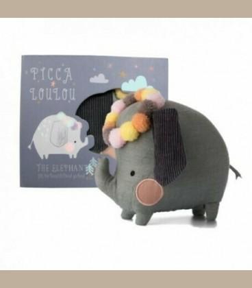 Picca LouLou- Υφασμάτινο Ελεφαντάκι σε κουτί