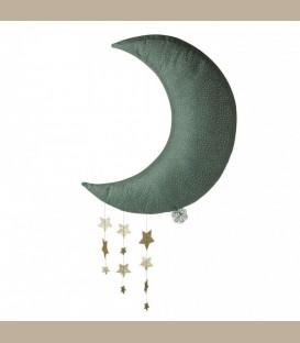 Picca LouLou- Υφασμάτινο κρεμαστό Φεγγάρι με αστέρια γκρί 45εκ