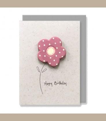 Ευχετήρια κάρτα χειροποίητη Happy Birthday