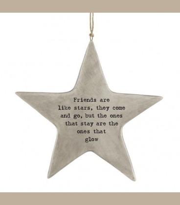 """Πορσελάνινο ρουστίκ Αστέρι-  """"Friend are like..."""""""