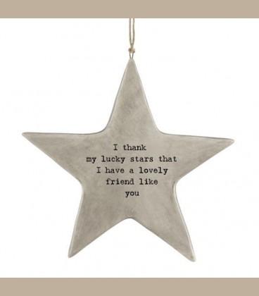 """Πορσελάνινο ρουστίκ Αστέρι-  """"Lucky Stars..."""""""