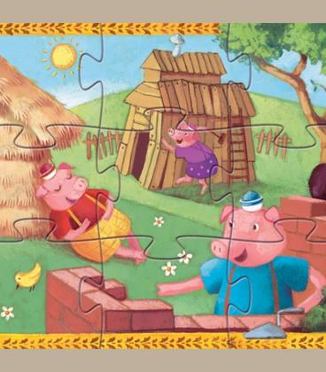 Djeco - Puzzle 3 Γουρουνάκια +3y