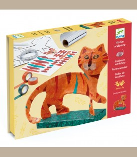 Djeco Κατασκευή με σύρμα και ταινίες 'Τίγρης σε βάση' +8y