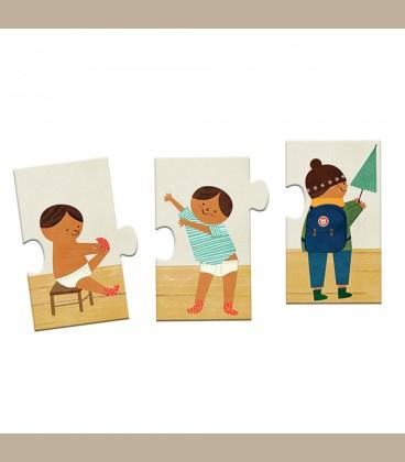 Djeco - Puzzle Μαθαίνω να ντύνω +3y
