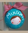 Χριστουγεννιάτικη μπάλα με όνομα βεραμάν για αγοράκι