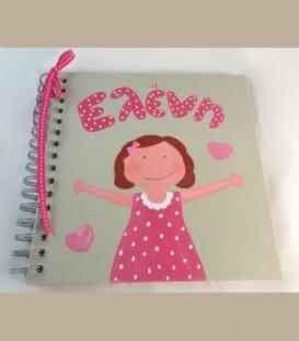 Λεύκωμα-βιβλίο ευχών-μικρό άλμπουμ για κορίτσι 21εκ