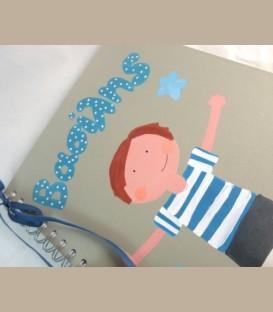 Λεύκωμα-βιβλίο ευχών-μικρό άλμπουμ για αγόρι 21εκ