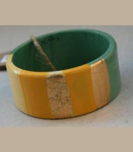 Ξύλινο βραχιόλι χειροποίητο με μοτίβα B