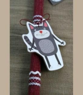 Πασχαλινή λαμπάδα Γάτα