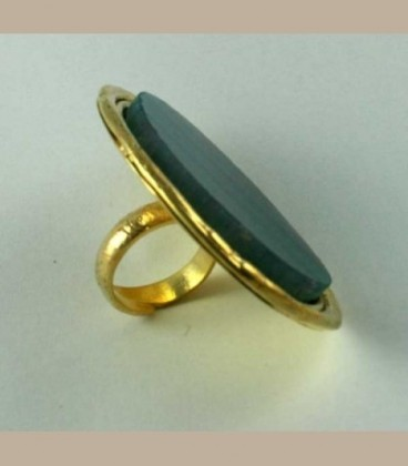 Χειροποίητο δαχτυλίδι με Αχάτη βεραμάν