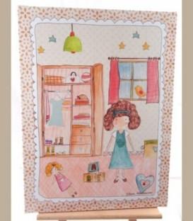 Παιδικό δωμάτιο κοριτσάκι 30εκΧ40εκ