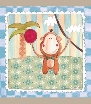 """Καδράκι τοίχου """"Μαϊμουδάκι"""" 20 x 20εκ."""