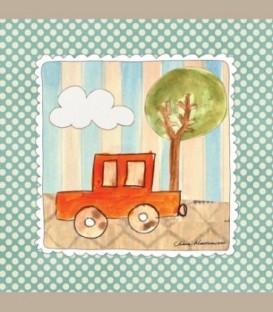 """Καδράκι τοίχου """"Πορτοκαλί αυτοκινητάκι"""" 20 x 20εκ."""